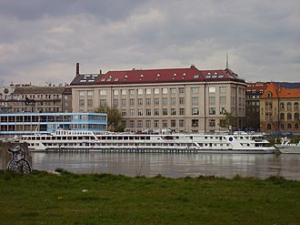 Slovak National Museum - Slovak National Museum building in Bratislava, viewed from the right bank of the Danube