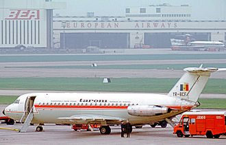 TAROM - TAROM BAC 1-11 at London Heathrow Airport in 1971