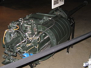 BK 5 cannon - Rear view of a BK 5 in the National Museum of the United States Air Force, Dayton, Ohio, showing the semi-circular magazine
