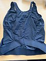 Back view of tank top style pregnancy belly belt and breast support 01.jpg