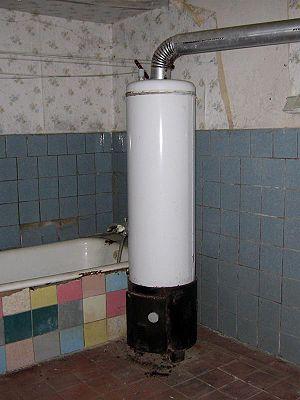 Deutsch: Badeofen English: hot-water heater Fr...