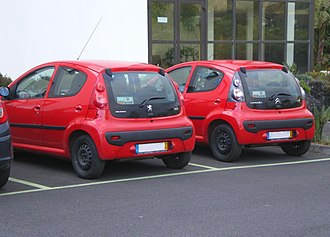 Rebadging - The Citroën C1 and Peugeot 107 look very similar and most of their construction parts are identical