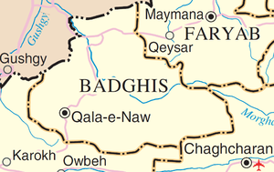 English: Map of Badghis Province, Afghanistan ...