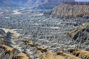 Geomorphology - Image: Badlands at the Blue Gate, Utah
