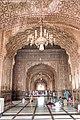 Badshahi Masjid prayer hall with chandeliers.jpg