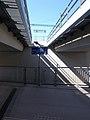 Bahnhof, Unterführung, Richtungszeichen, 2021 Kápolnásnyék.jpg