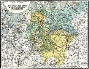 Deutz–Gießen railway - Image: Bahnkarte Deutschland 1861