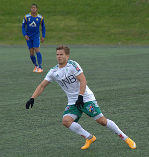 Bajram Ajeti - Ajeti playing for Hamarkameratene in 2015.