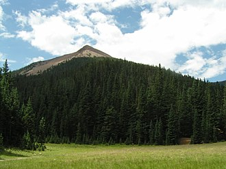 Baldy Mountain (Colfax County, New Mexico) - Image: Baldy from Copper Park