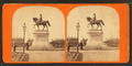 Ball's statue of Gen. Washington, Public Garden (side view), by C. A. Beckford.png