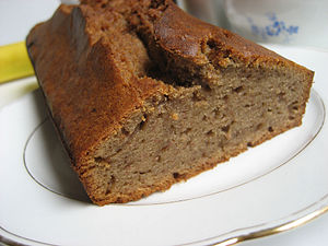 Banana bread loaf on a plate.jpg