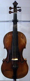 Bartolomeo giuseppe guarneri, violino cannone, appartenuto a niccolò paganini, cremona 1743
