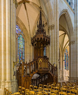 Sainte-Clotilde, Paris - Image: Basilica of Saint Clotilde Pulpit, Paris, France Diliff