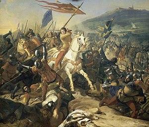 Battle of Mons-en-Pévèle - The Battle of Mons-en-Pévèle, by Charles Philippe Larivière (1839)