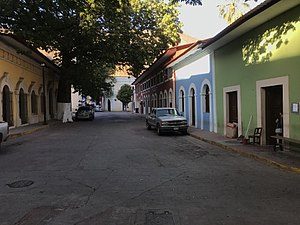 Quaint street in downtown Batopilas