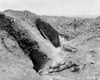 Battle of Mont Sorrel - German trenches demolished by artillery