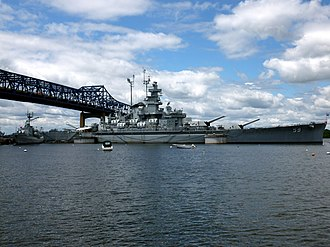 Battleship Cove - Battleship Massachusetts in 2012.