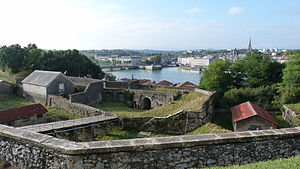 Bayonne - View of the ramparts overlooking the river.