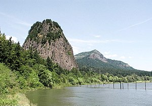 Beacon Rock State Park - Beacon Rock viewed from the west