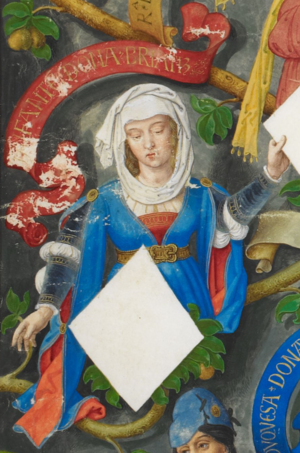Beatrice, Countess of Alburquerque - Beatriz in Genealogia dos Reis de Portugal (António de Holanda; 1530-1534)