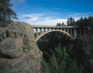 National Register of Historic Places listings in Custer County, South Dakota - Image: Beaver Creek Bridge in Wind Cave National Park