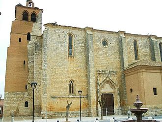 Becerril de Campos - Santa Eugenia Church, created in 1536.