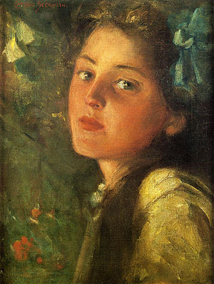 A wistful look, by James Carroll Beckwith