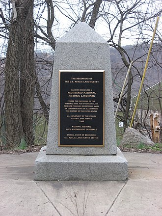 Public Land Survey System - Monument referencing the beginning point of the PLSS