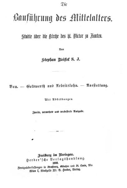File:Beissel Das Martyrthum des hl. Victor und seiner Genossen.djvu