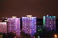 Belarus-Minsk-Houses in South-East Part of Prytytski Square.jpg