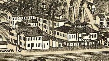 drawing of old factory