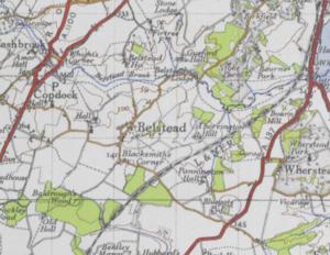 Belstead - Image: Belstead Map 1904