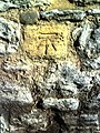 Benchmark on wall of Abbey Close - geograph.org.uk - 2093696.jpg