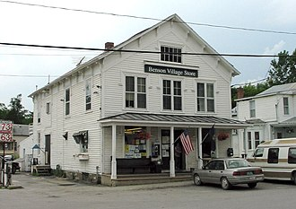 National Register of Historic Places listings in Rutland County, Vermont - Image: Benson Vermont 20040701
