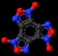Benzotrifuroxan molecule ball.png