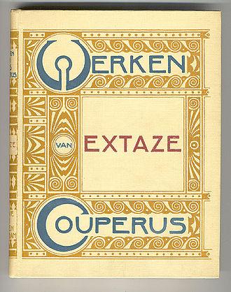 Louis Couperus - Cover of Extaze designed by Hendrik Petrus Berlage