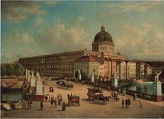 Berlin Palace - The Berliner Stadtschloss (or Stadtschloß) in a 19th-century painting