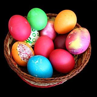 Easter egg decorated egg