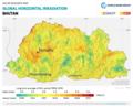 Bhutan GHI Solar-resource-map GlobalSolarAtlas World-Bank-Esmap-Solargis.png