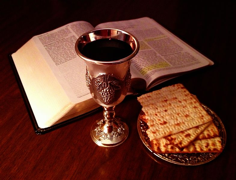 File:Bible and Lord's Cup and Bread.JPG