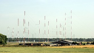 Curtain array - Curtain arrays at Radio Free Europe transmitter site, Biblis, Germany