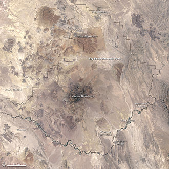 Big Bend National Park - Big Bend from space, 2002