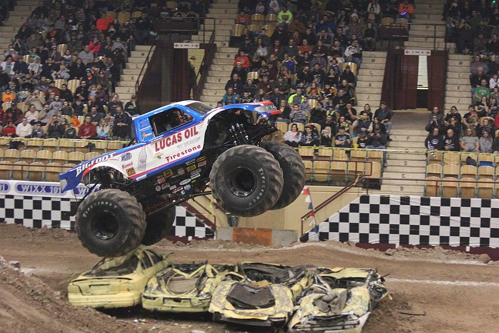 Bigfoot 15 jumping at Brown County Arena 2015