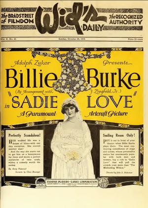 Sadie Love - Widds advertisement.