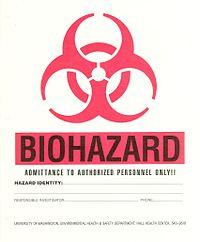Biohazard signage
