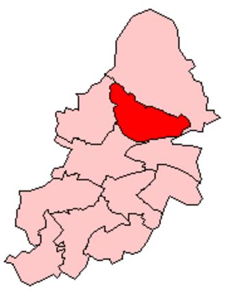 Erdington - Erdington constituency shown within Birmingham.