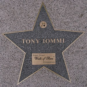 Tony Iommi - Star on Birmingham Walk of Stars