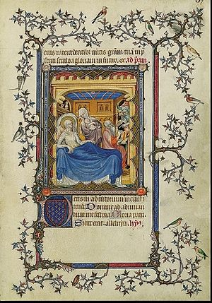 Altar of Saint John - Birth and Naming of Saint John the Baptist, before 1388, Petites Heures de Jean de Berry, Folio 207r
