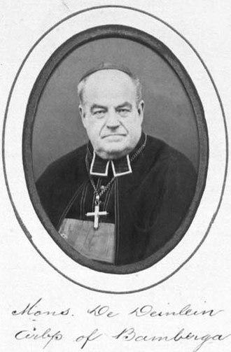 Michael Deinlein - Michael von Deinlein, official photograph from the Konzilsväter album, 1870