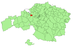 Location of Sestao in Biscay.